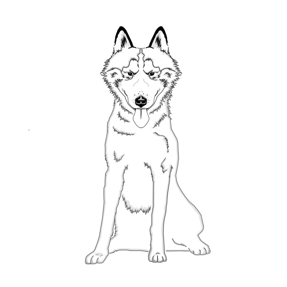 Hund Ausmalbild