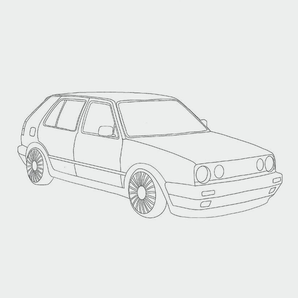 Ausmalbild Auto » Als PDF zum Ausdrucken  kribbelbunte Ausmalbilder