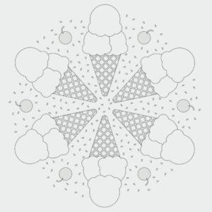 Ausmalbild Eis Mandala