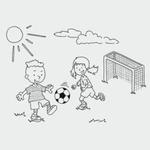 Ausmalbild Fußball
