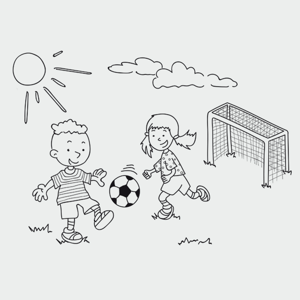 Ausmalbilder Fußball - Zum Ausdrucken  kribbelbunte Ausmalbilder