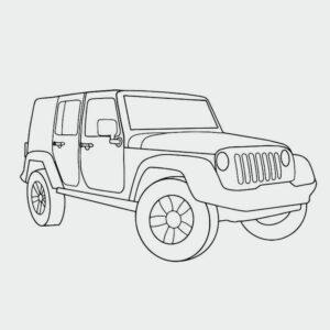 Ausmalbild Geländewagen