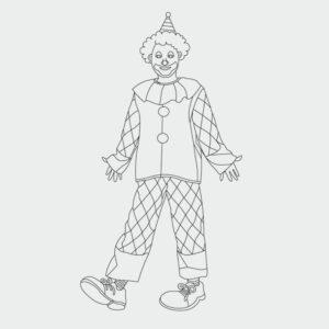 Clown Ausmalbild