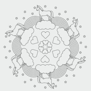 Einhorn Mandalas