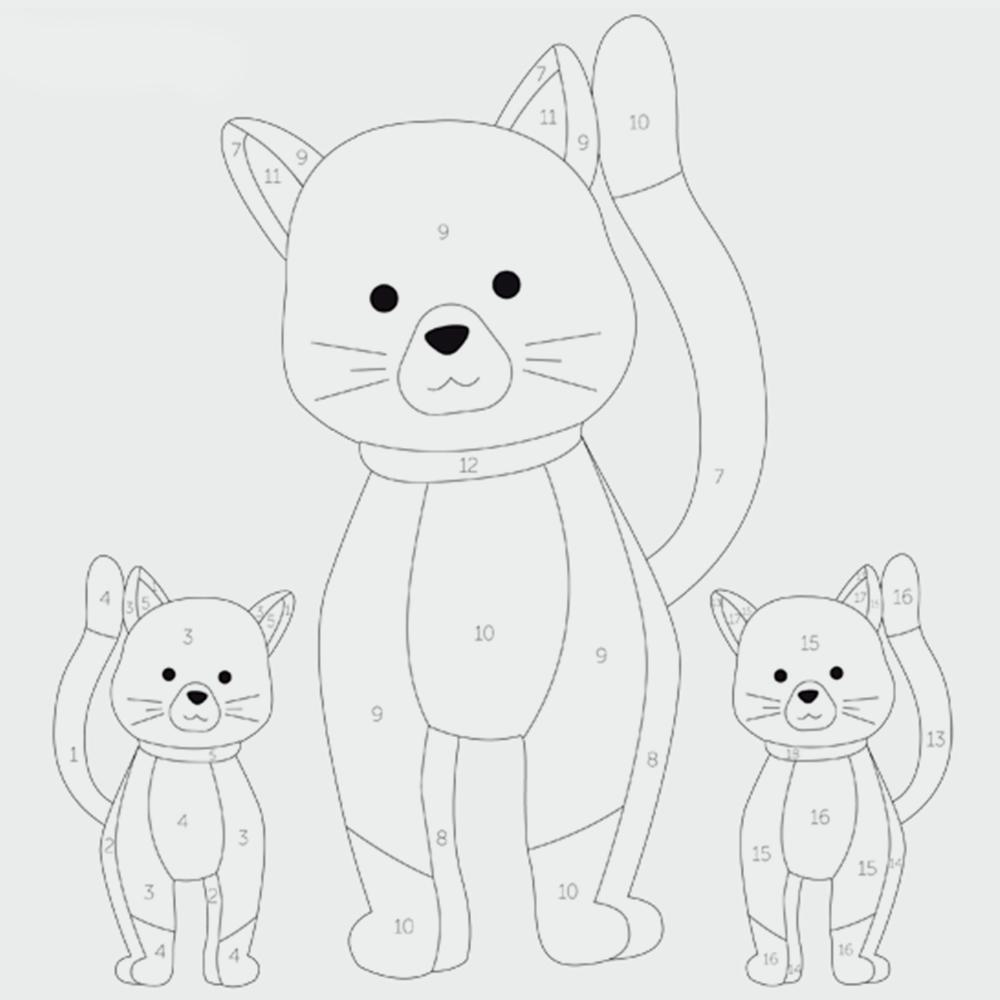Katzenfamilie kostenlos ausmalbilder Katzen Ausmalbilder