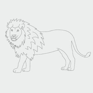 Ausmalbild Löwe