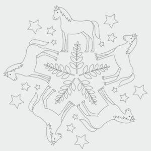 Pferde-Mandala