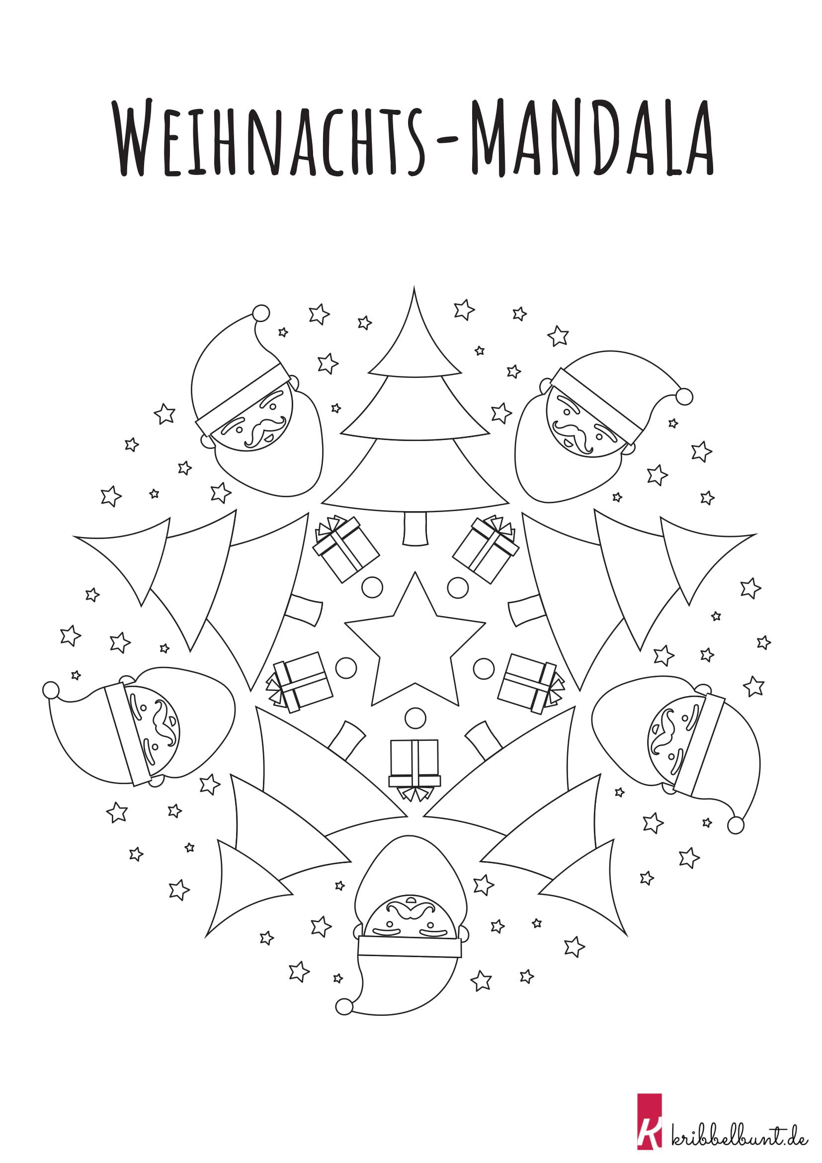 mandala weihnachten  kribbelbunte ausmalbilder