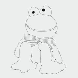 Frosch Ausmalbild