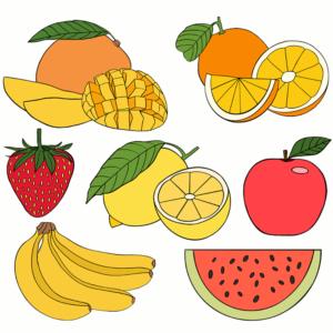 Ausmalbilder Obst