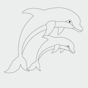 Ausmalbilder Delfin