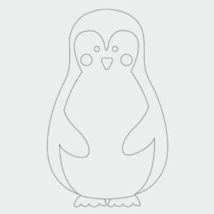 Pinguin Ausmalbild